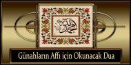 Günahların Affı için Okunacak Dua