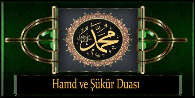Hamd ve Şükür Duası