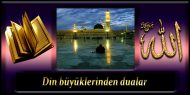 Din Büyüklerinden Dualar
