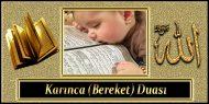 Karınca (Bereket) Duası