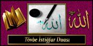 Tövbe İstiğfar Duası