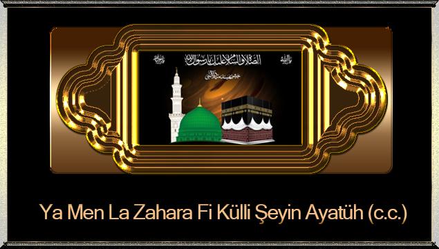 Ya Men La Zahara Fi Külli Şeyin Ayatüh (c.c.)